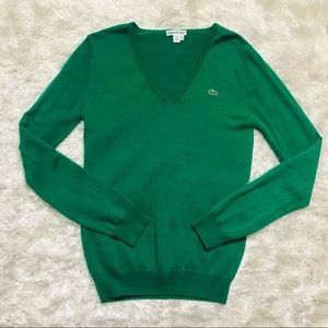 Lacoste V-neck Wool Sweater